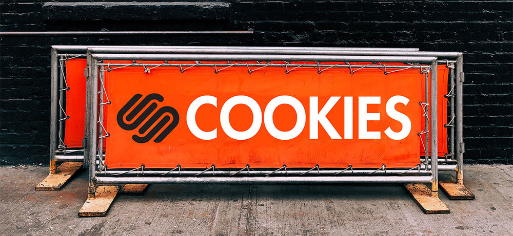 Squarespace cookie banner - image accompanying an article about how to create a GDPR compliant cookie banner in Squarespace