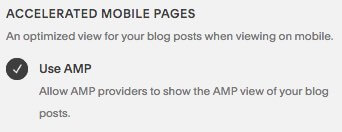 Enabling AMP in Squarespace