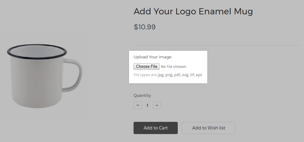 Bigcommerce's 'upload file' functionality