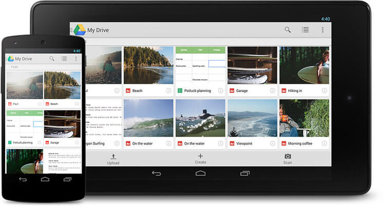 Google Drive lets you access your files anywhere and on any device.