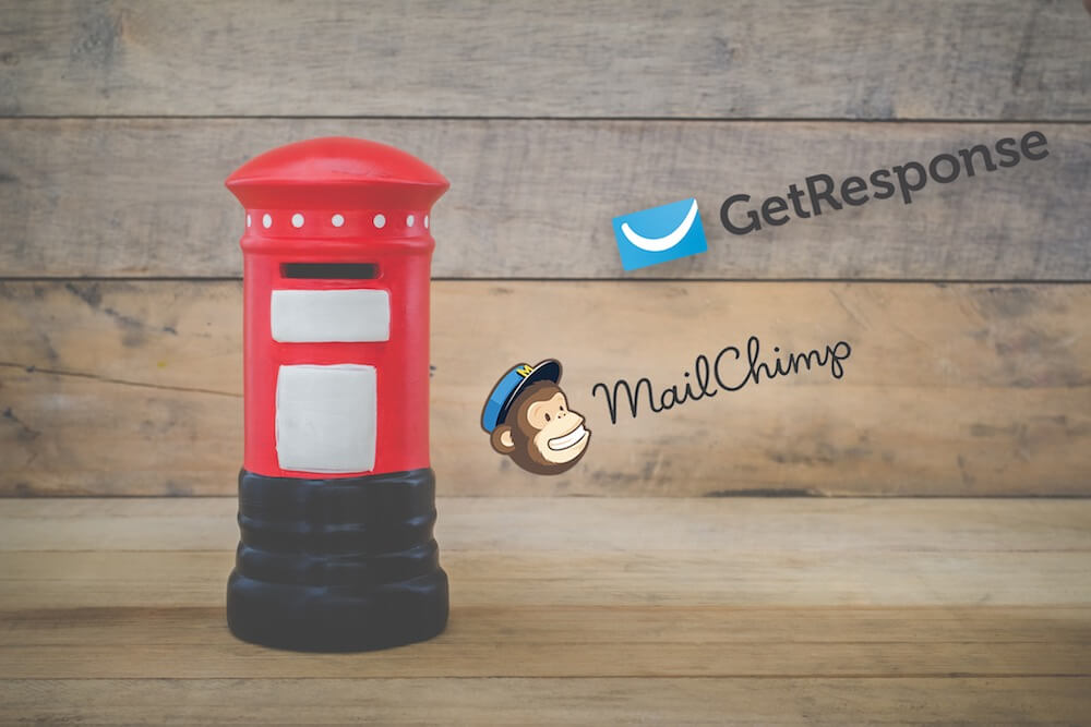 getresponse vs mailchimp (2019) a comparison of two of the mostgetresponse vs mailchimp image of the two company logos beside a postbox