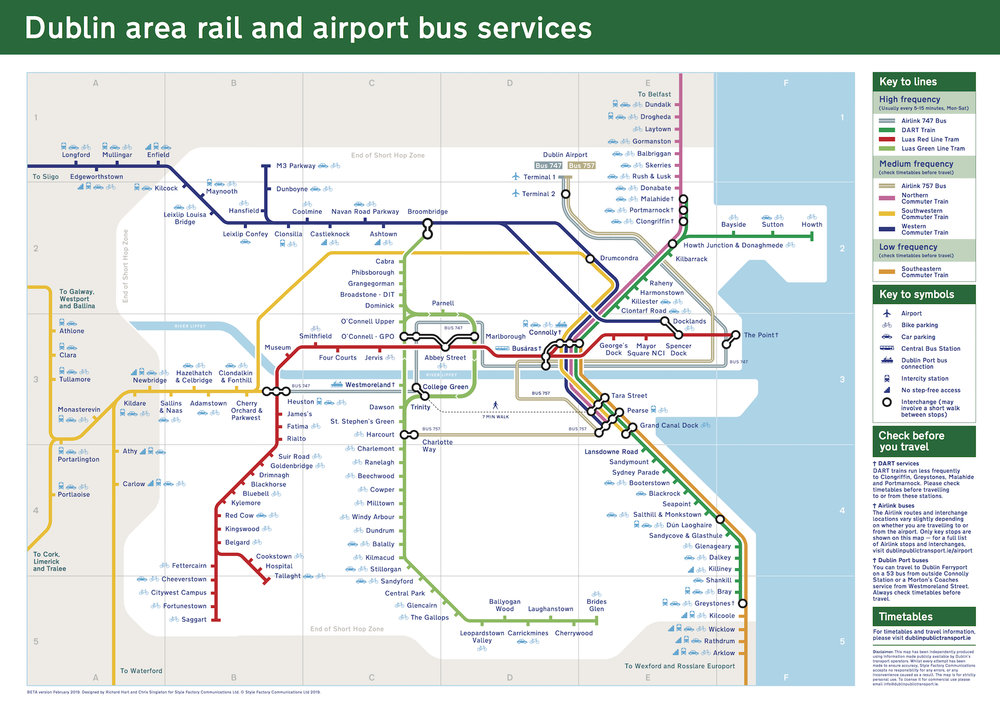 New version of the Dublin rail map