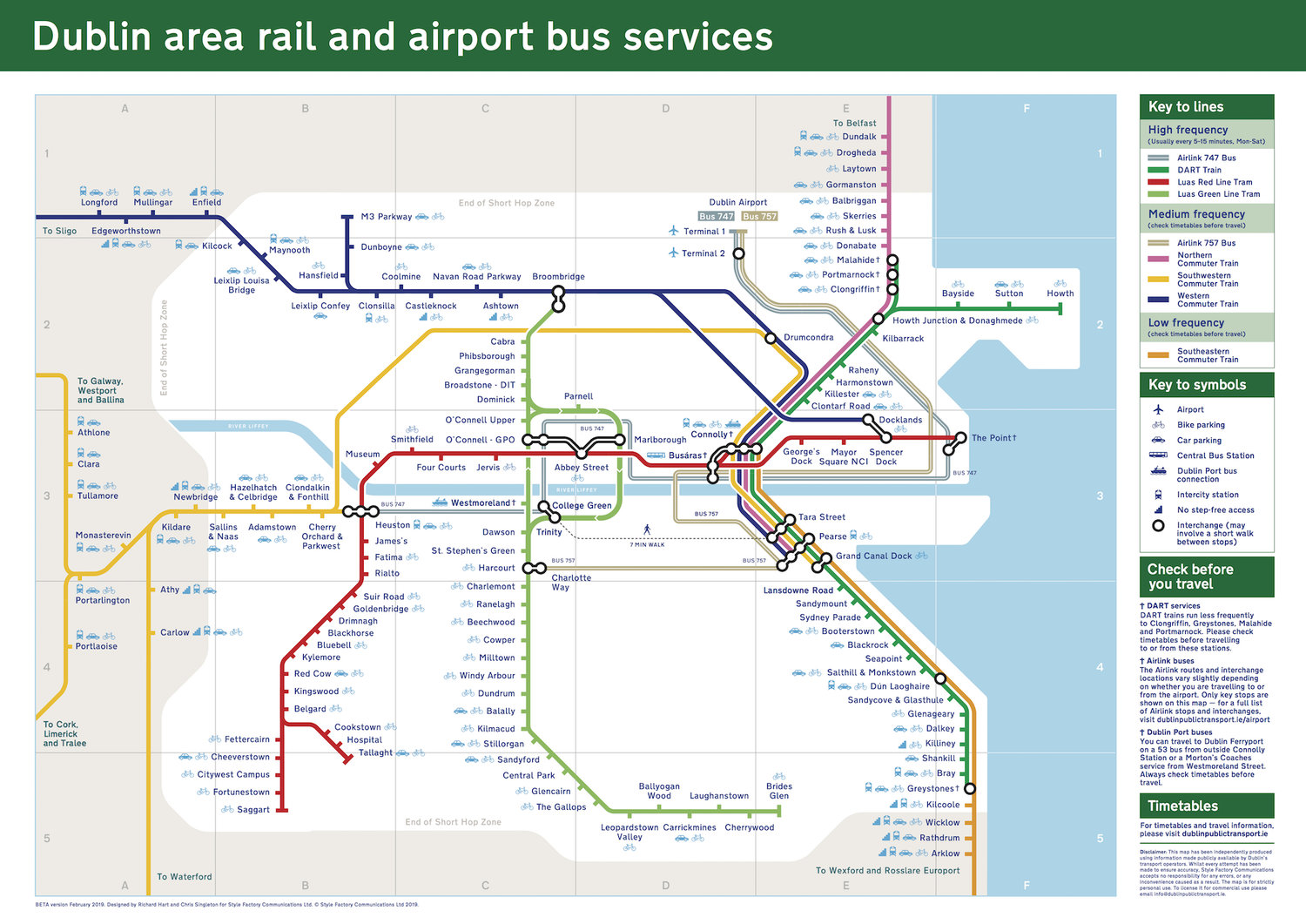 Improved version of the Dublin rail map now live — Style Factory on