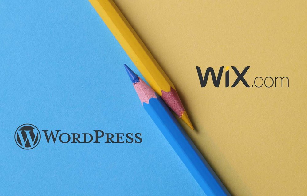 Wordpress vs Wix - image showing the two logos side by side