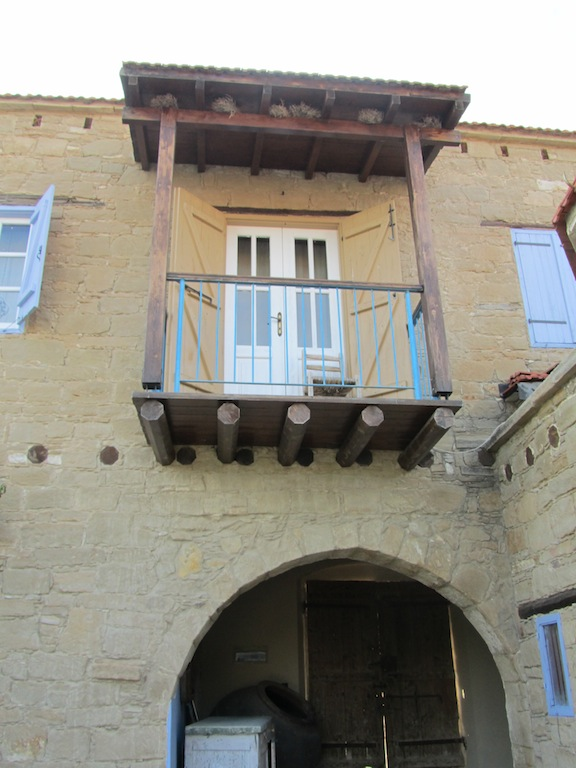 Balcony of village house