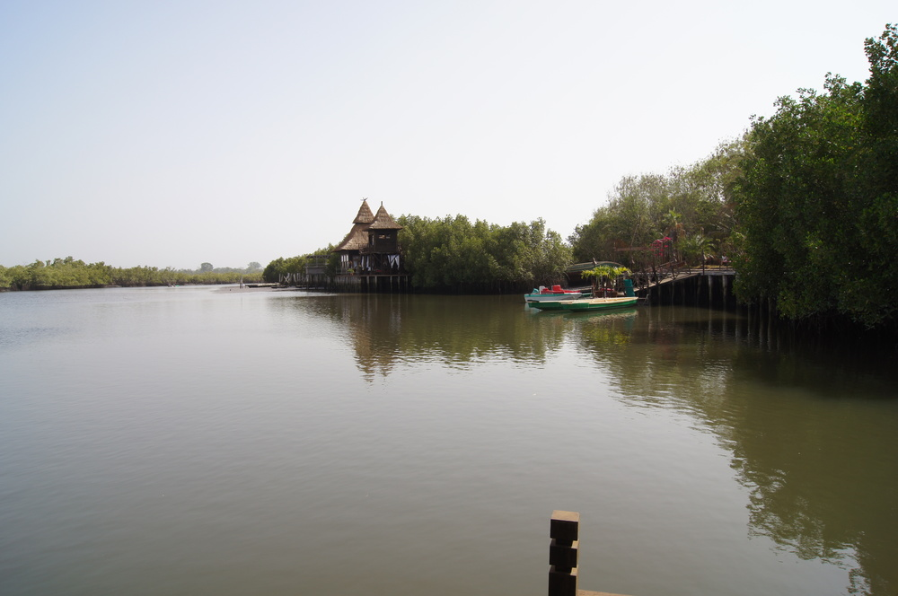 River view of Stilted Lodge and Mandina's main jetty