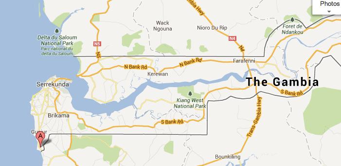 Kartong lies near the southern Gambian border to surrounding Senegal