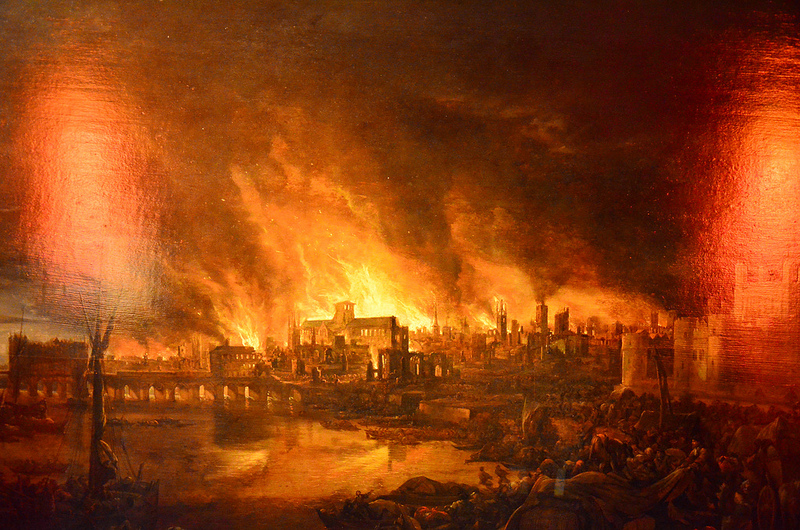 Painting of great fire of London   Image by  Ben Sutherland