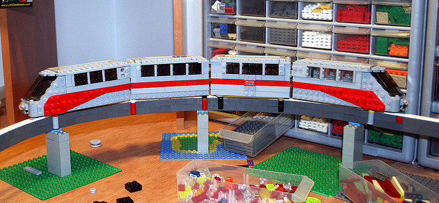 Here's a lego train - the Dane in me couldn't resist! Image by  Mike