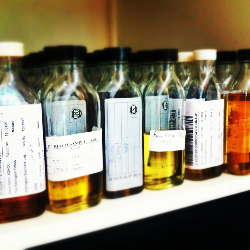 Whisky samples at Adelphi Selection - now where's my lab coat?