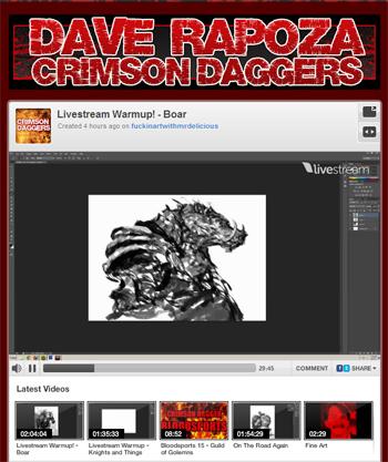 Dave Rapoza: Crimson Daggers Livestream