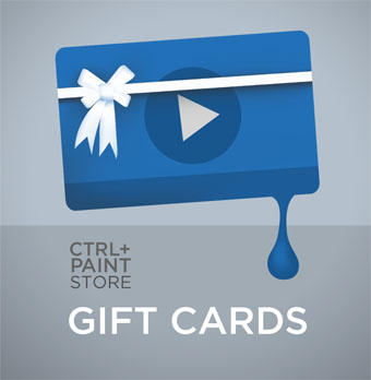 Digital gift cards for $10, $30, $50, or $100 are available now in the Ctrl+Paint store!