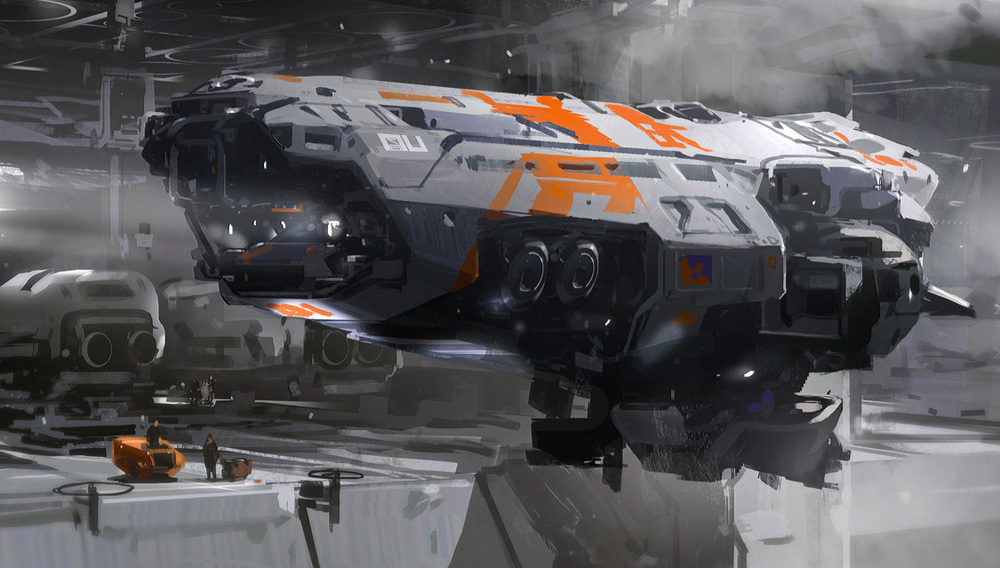 One of Sparth's awesome spaceships