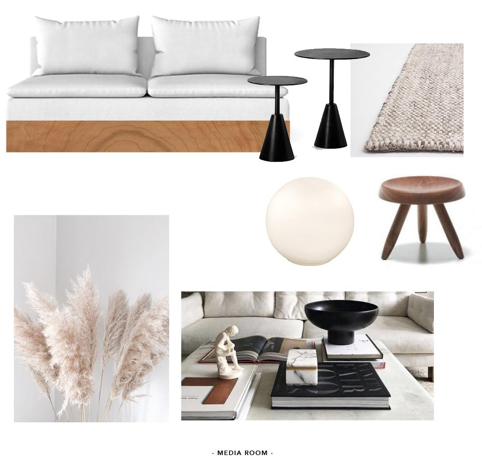 minimalist media room