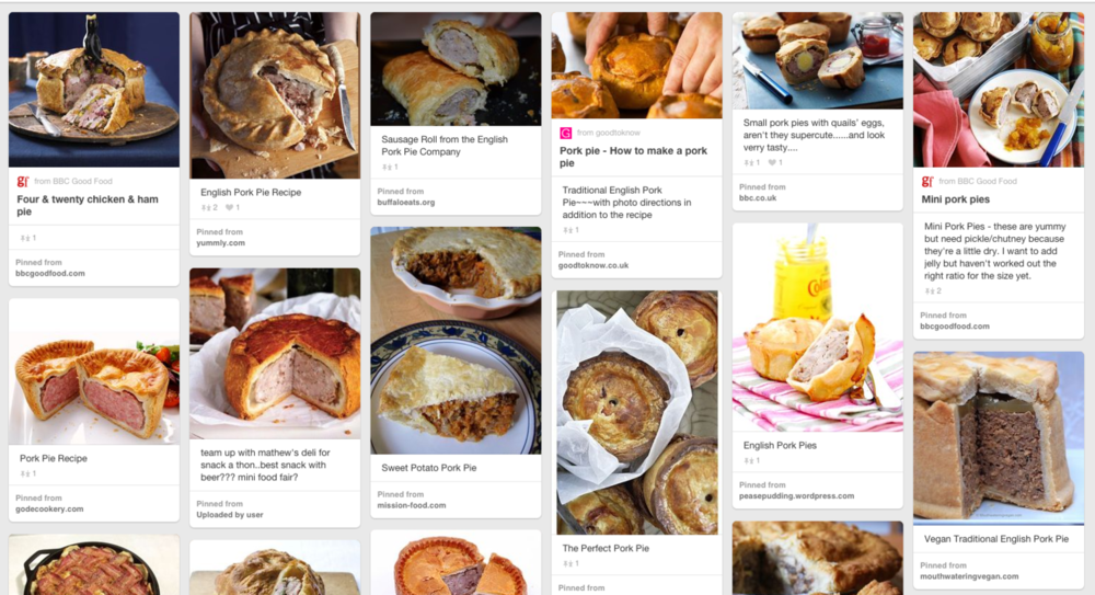 Pinterest and Pork Pies?