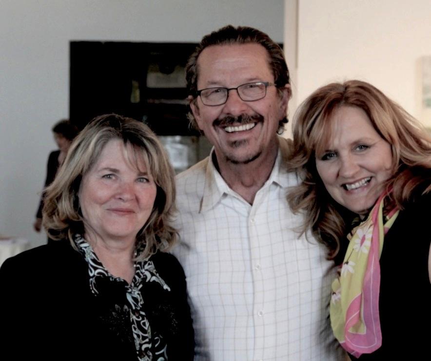 artist Dee Hooker, Catamaran Advisory Board member George Newell, Catamaran Founder Catherine Segurson