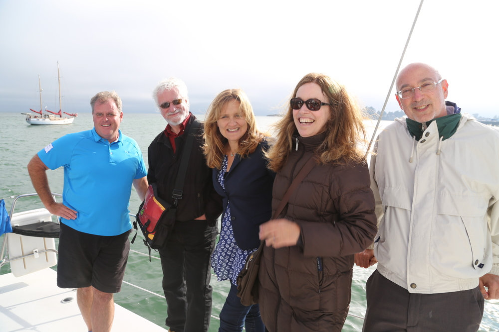 Catamaran editors (from left): Brad Sharek, Tom Christensen, Catherine Segurson, Elizabeth McKenzie, Zack Rogow