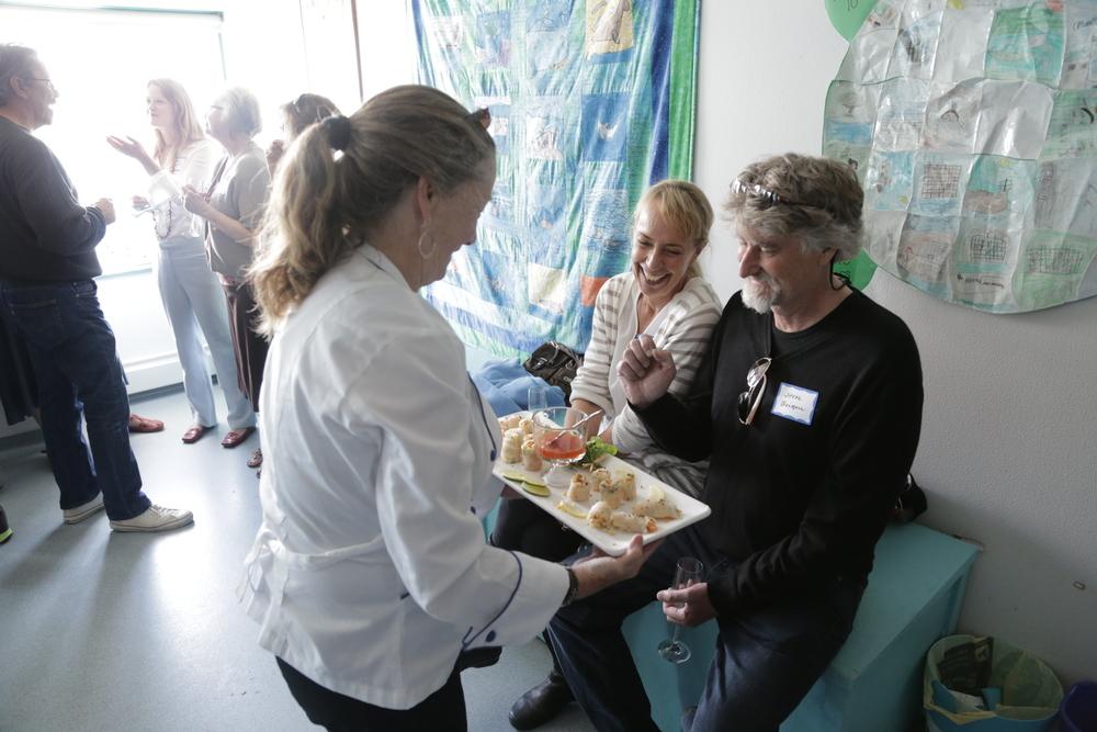 Caterer Delia Gilligan (Gilligan's Gourmet Catering), Rebecca Campbell, Steve Leinau