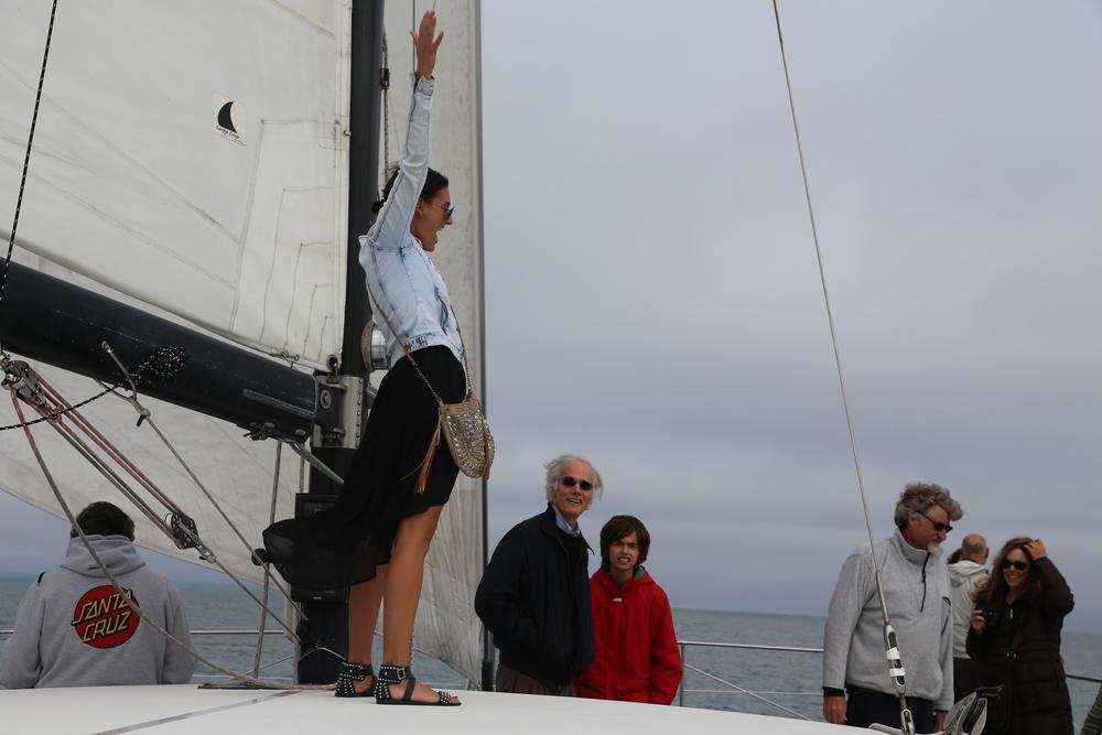 Catamaran intern Francesca Cannino, Steve Woodhams, Stuart Woodhams, Steve Leinau, Elizabeth McKenzie