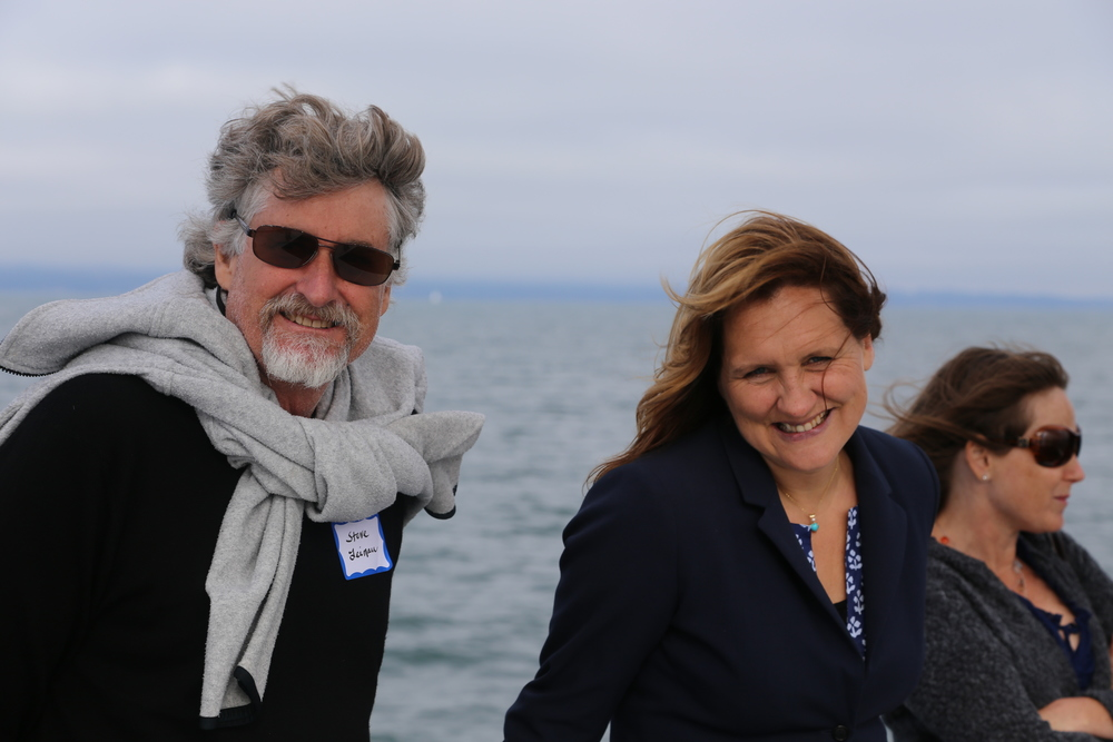 Catamaran advisor Steve Leinau, Catamaran Founding Editor Catherine Segurson