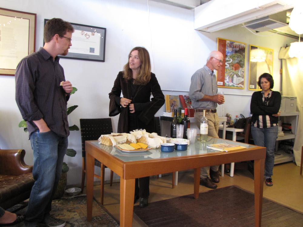 from left: Mark Allen Cunningham, Elizabeth McKenzie, Robert Minnis, Vania Benevides