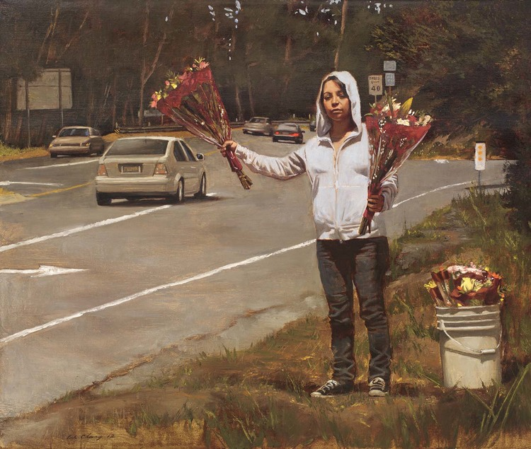 Flower Girl, Entrance to Highway 1, 2012