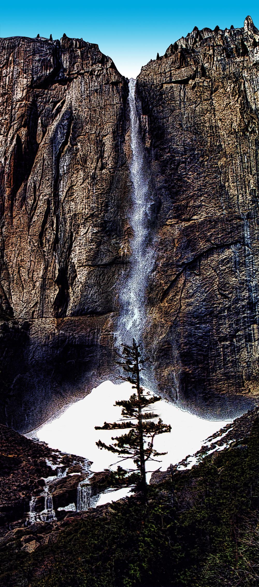 Yosemite Falls/Snowbank
