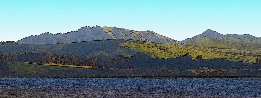 Tomales Bay and Mount Tamalpias • CA