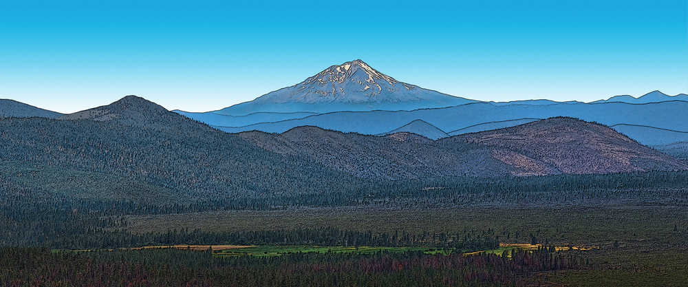 Mount Shasta and Hat Creek Valley - CA