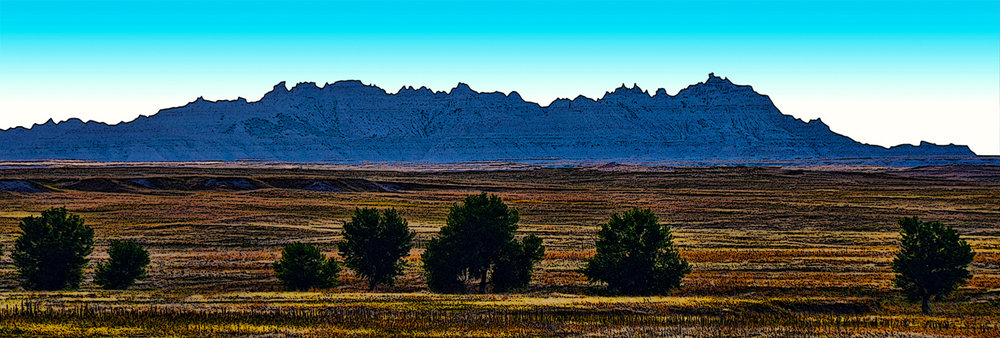 Badlands in Shadow