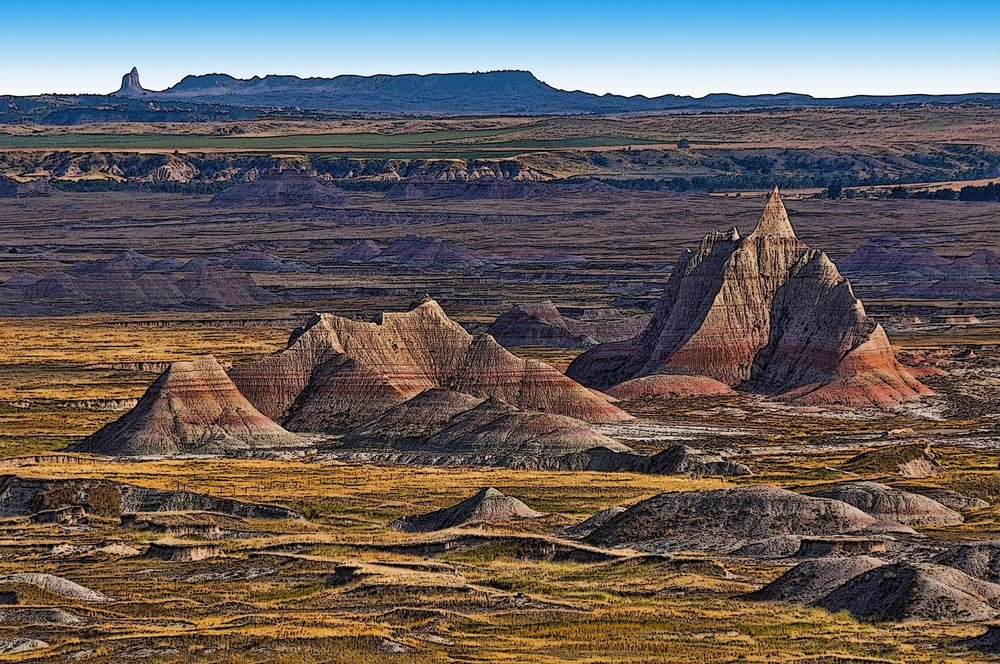 Badlands and Pyramid