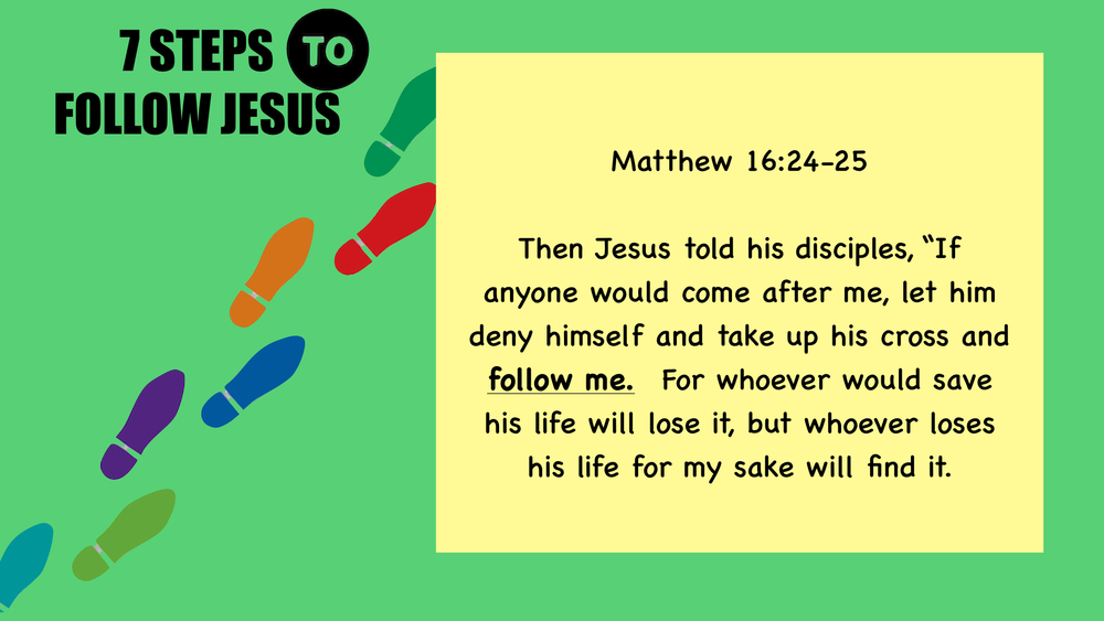 DO you want to follow Jesus? This can help start you in the right direction.