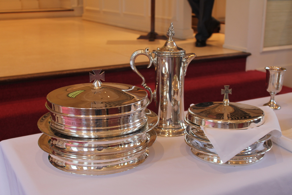The sacrament of the Lord's Supper is celebrated on Maundy Thursday