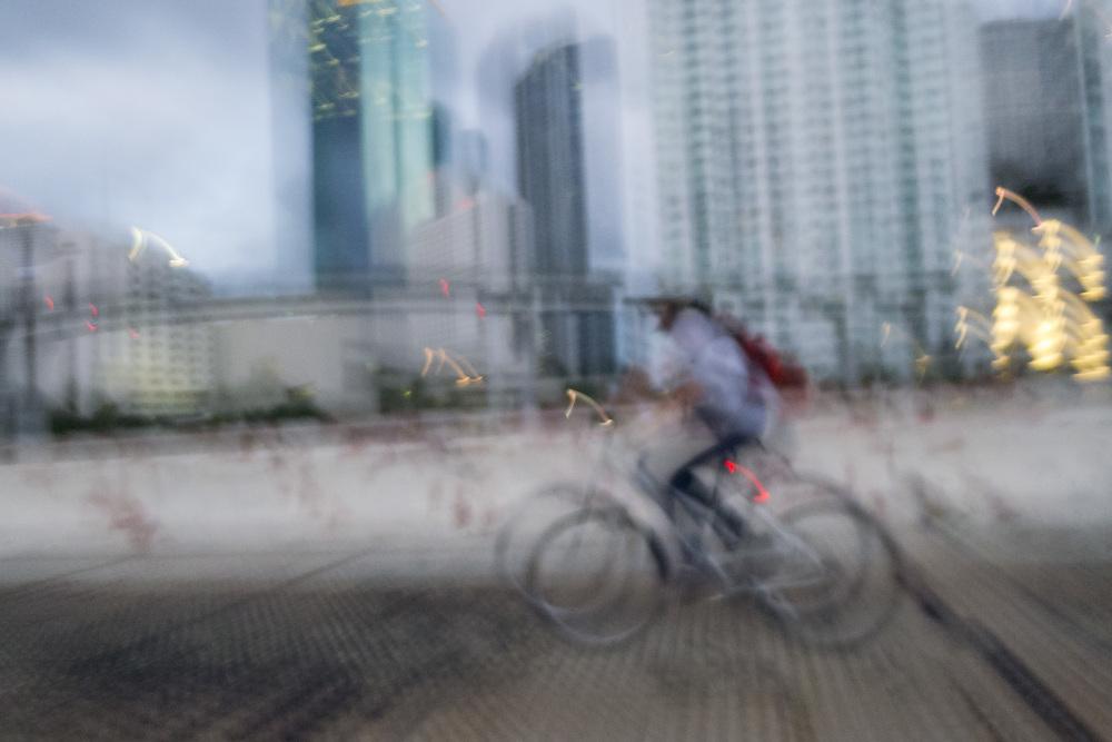 Crossing Miami River on Brickell Avenue Bridge
