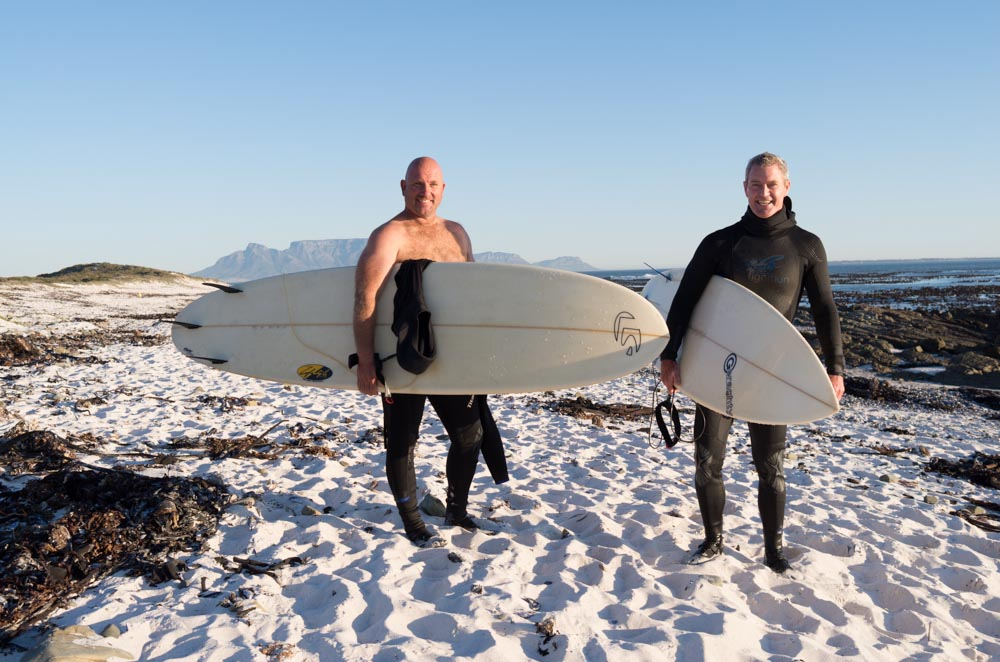 Image of two surfers in Melkbosstrand made with my Leica X2. Melkbosstrand is a a northern suburb of Capetown, South Africa.
