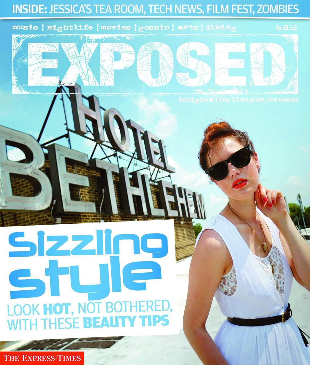 EXPOSED cover from the Express-Times' Summer Fashion shoot at Hotel Bethlehem.