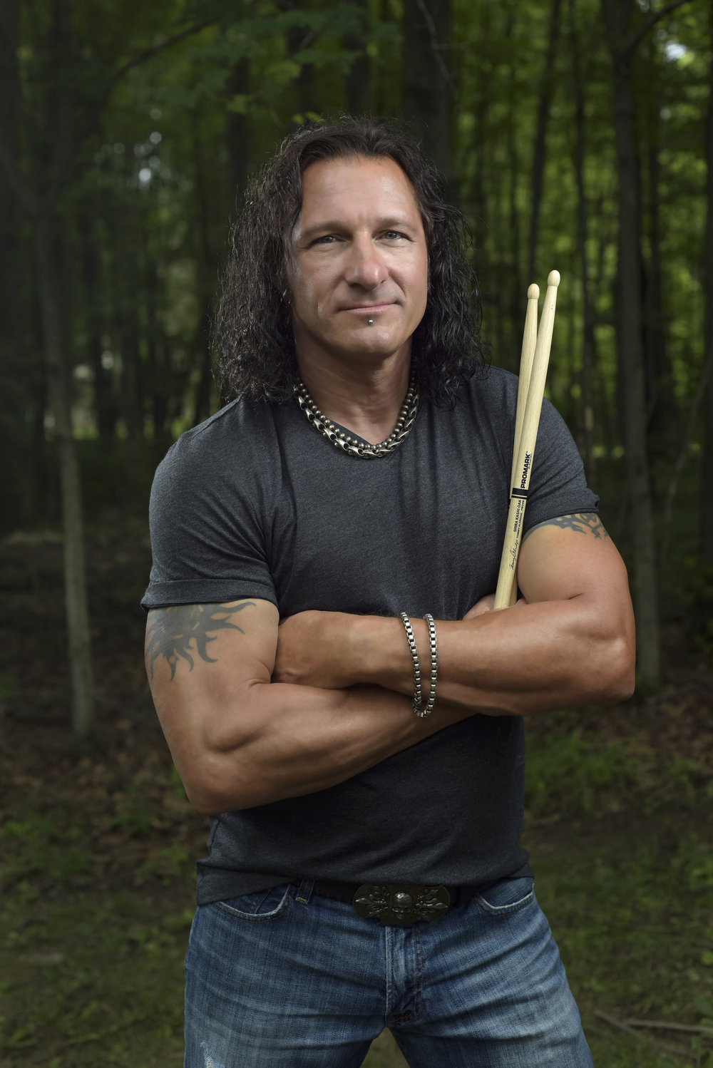 Drummer Kevin Miller, formerly of the band Fuel, photographed in Northampton County, Pennsylvania.