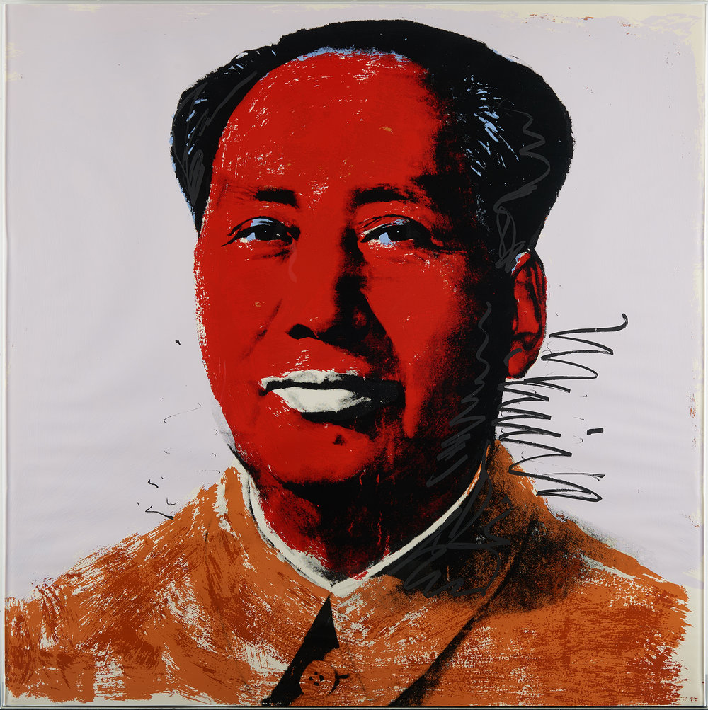 Chairman Mao - Andy Warhol | Photographed though glass.