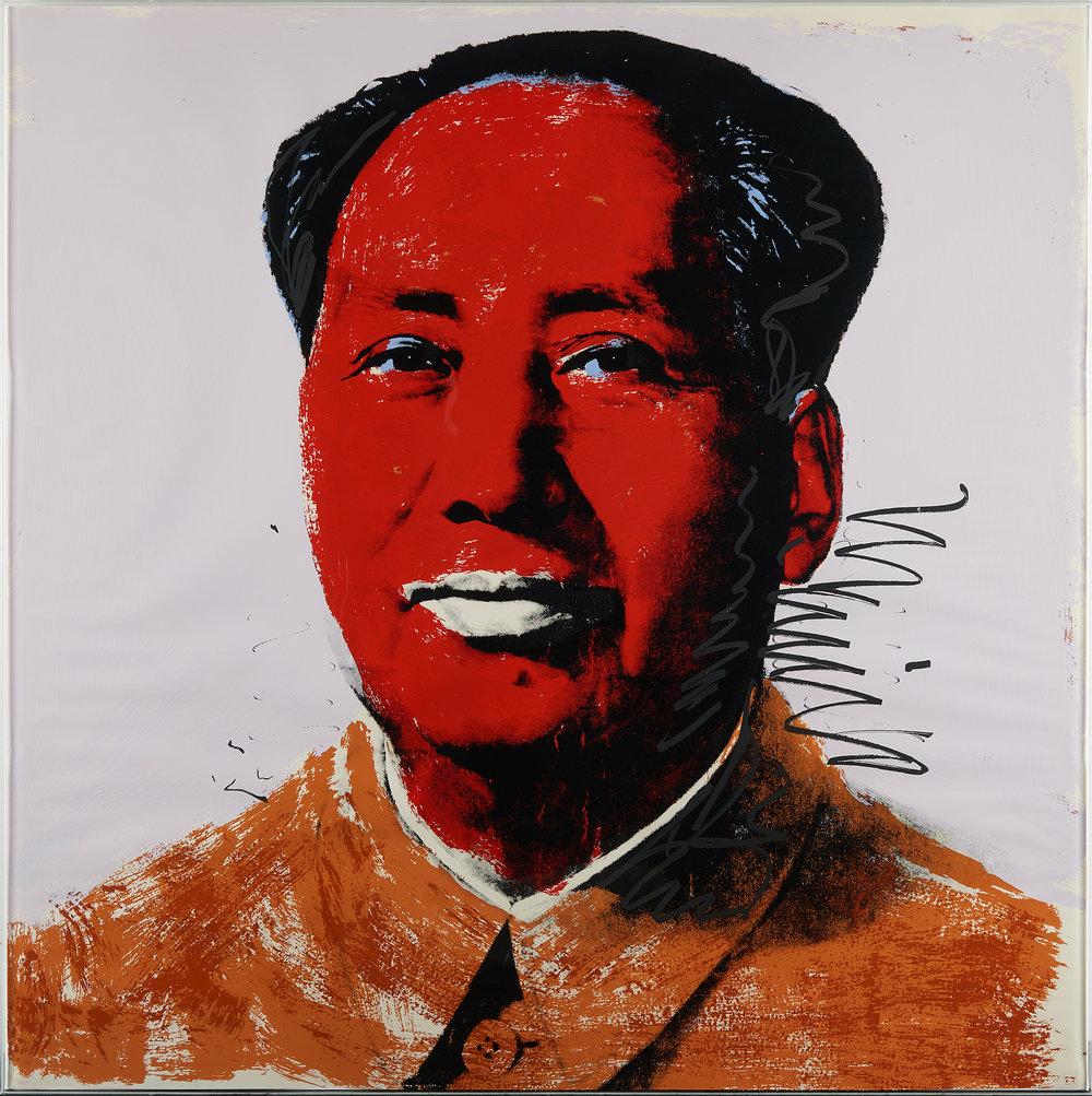 Chairman Mao - Andy Warhol |Photographed though glass.
