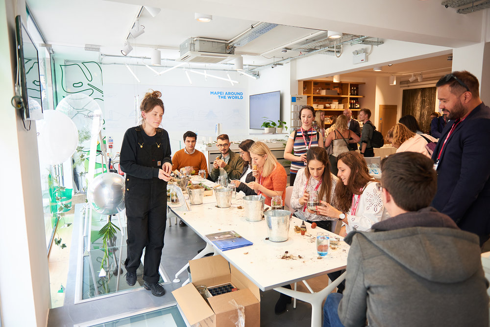 Mapei World Design Week Terrarium Workshop by Grace and Thorn