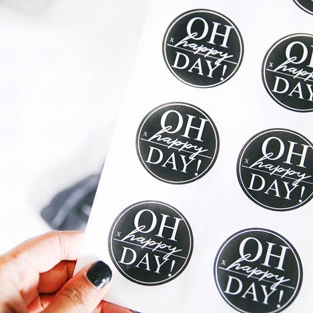 """OH HAPPY DAY!"" Restocking stickers today! 🎉 Packing orders is one of my favorites. I love this sticker because it reminds me that it's our job to add happiness to our days. . . ""This is the day that the Lord has made , we WILL rejoice and be glad in it!"" (Psalm 117:24)"