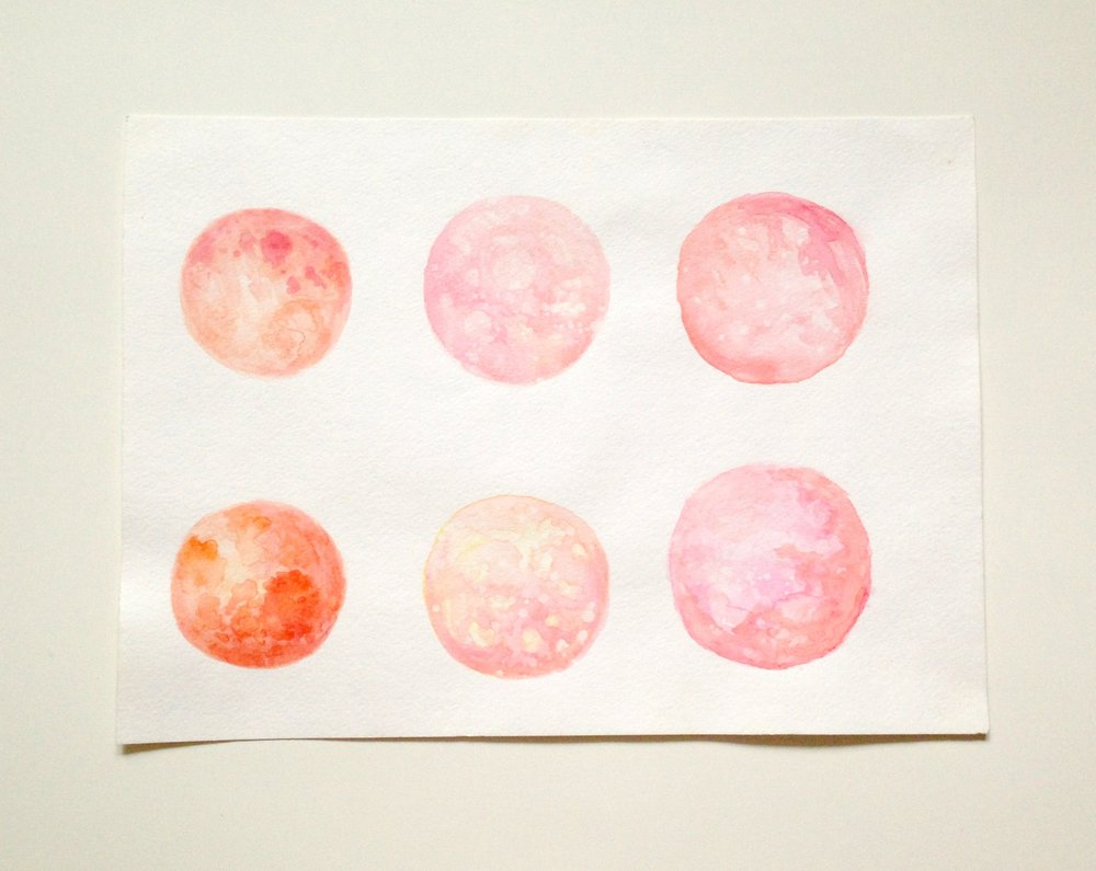 Watercolor circles