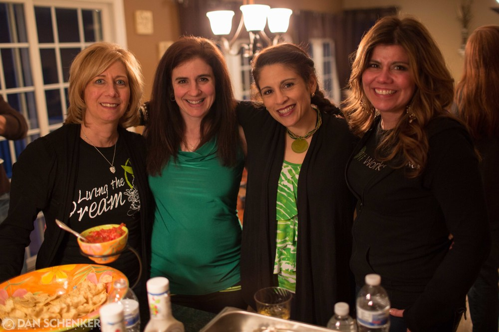 Pam, Irene, Alicia, and Cara celebrating.
