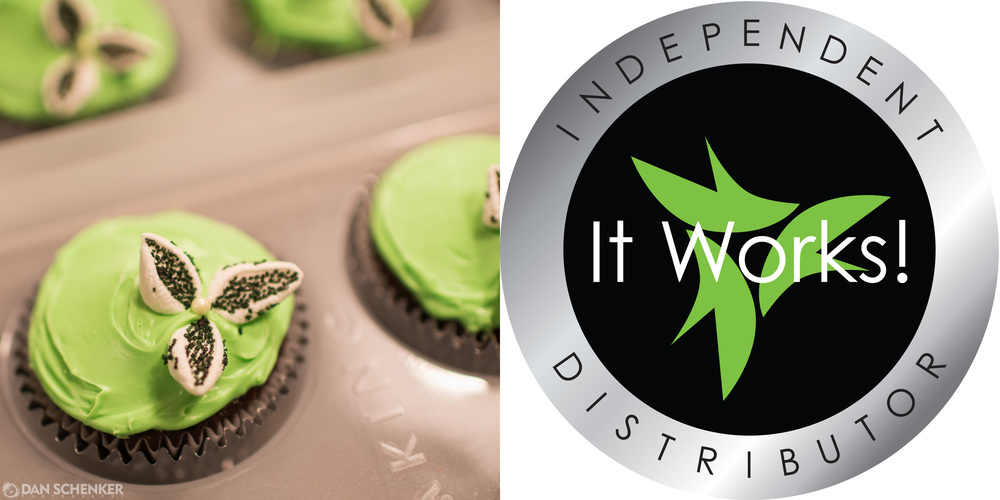 Check out Michelle B.'s awesome logo cupcakes.