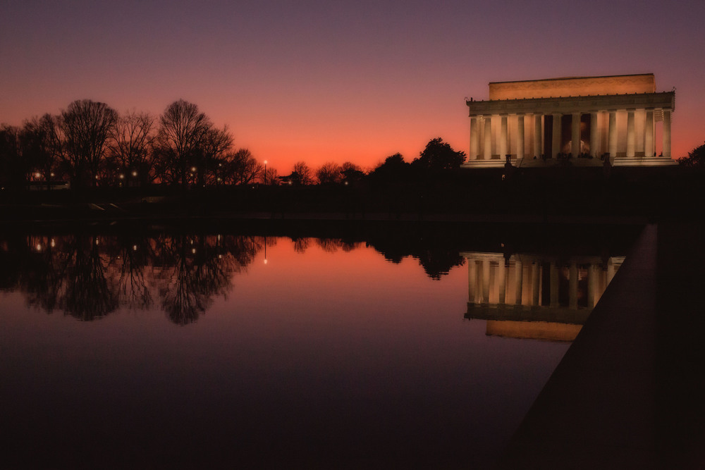 """Lincoln Memorial Sunset"" by Dan Schenker"