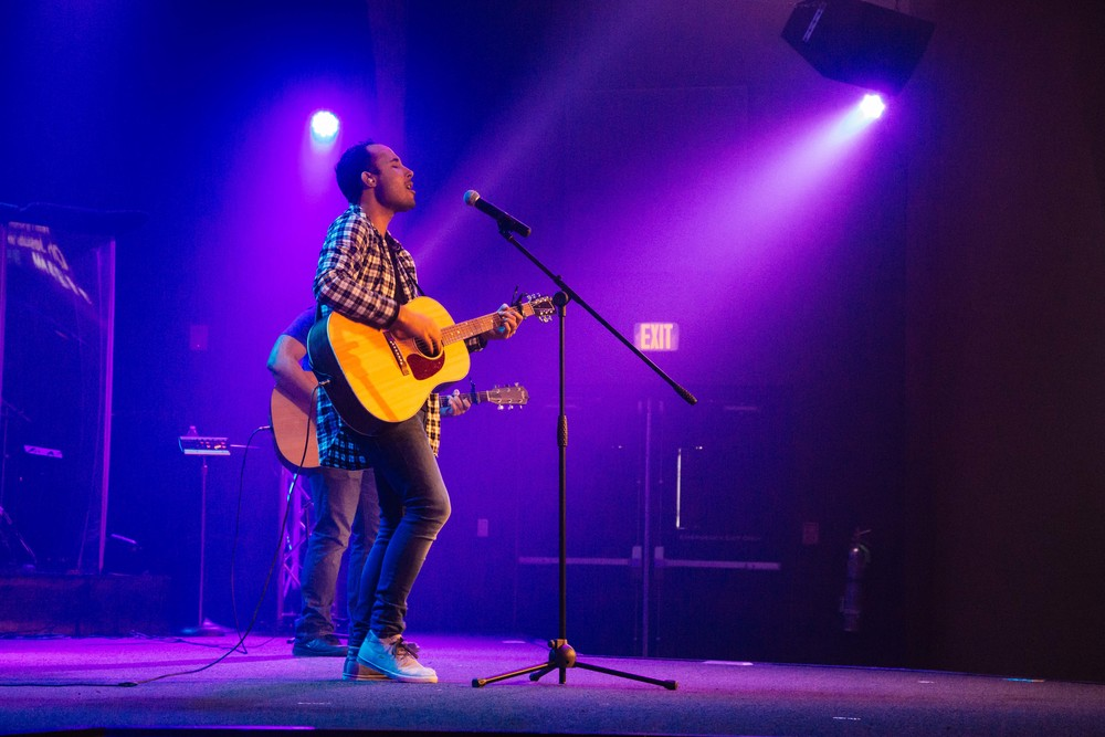 Joe Germain absolutely killing it leading the TC Worship Team.