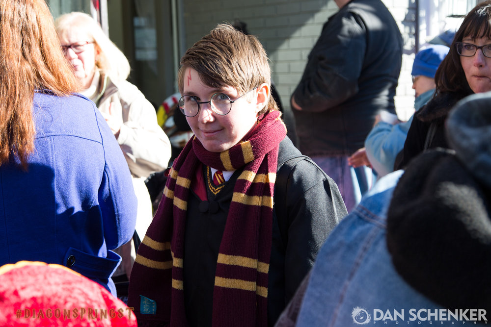 "I didn't see any evidence that this wasn't the actual Harry Potter — not Daniel Radcliffe, who played the character in the movies, but the real live ""boy who lived."" Great cosplay! 👏"