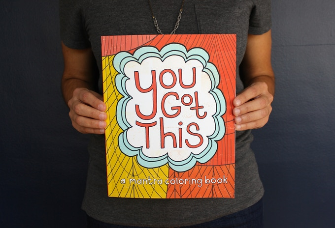 Coloring book - illustration, hand lettering