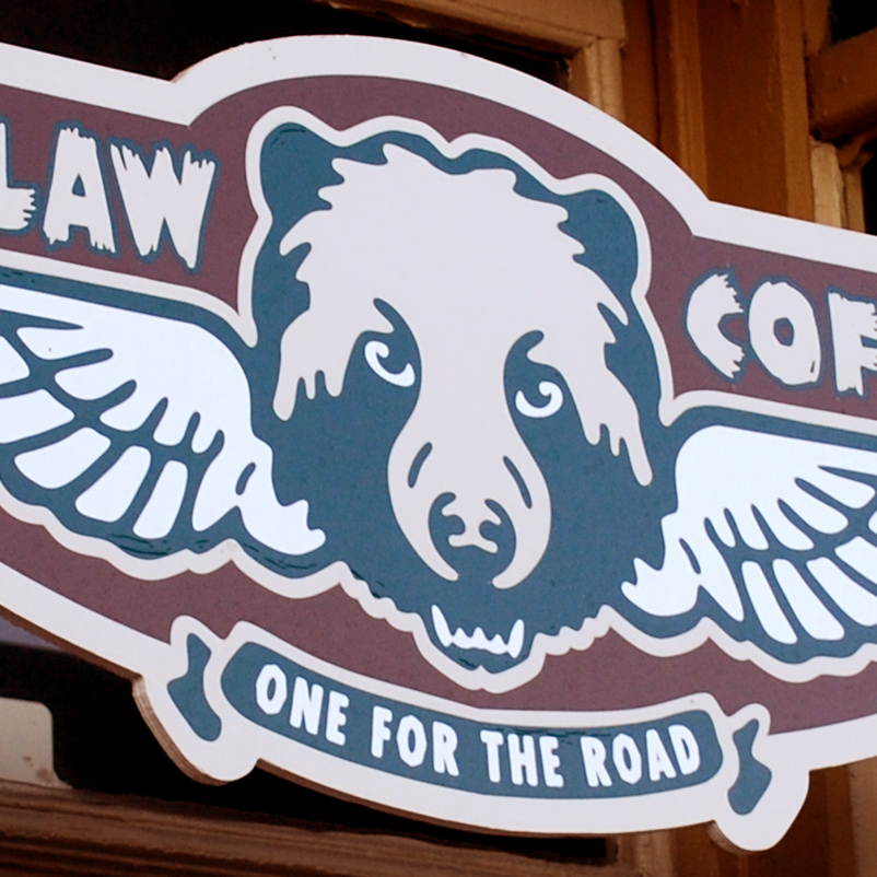 Bearclaw Coffee Company signage