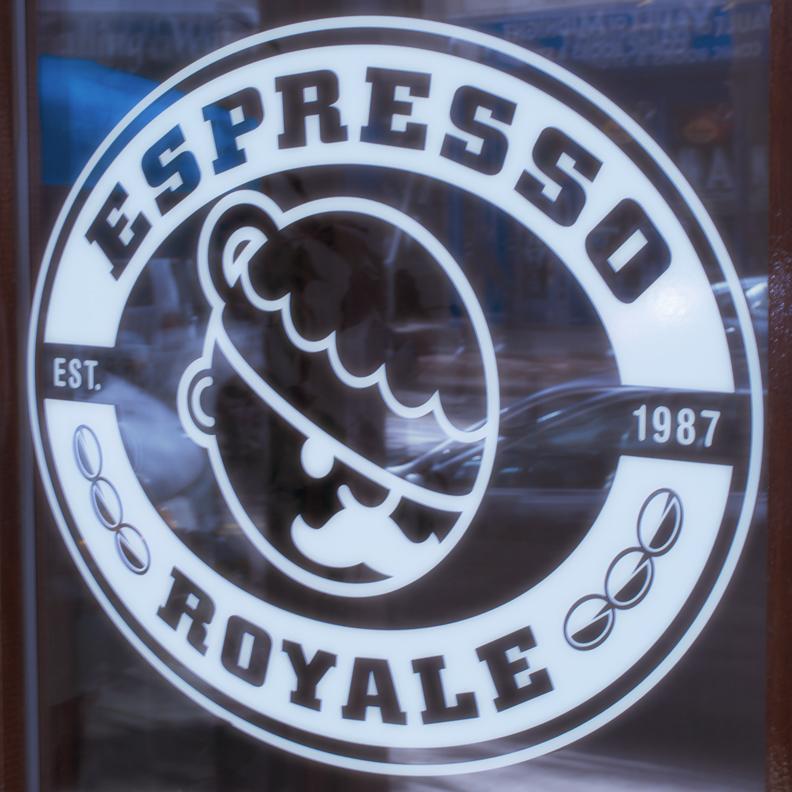 Espresso Royale signage